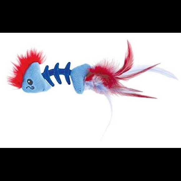 Petstages Cat Feather Fish Bone Toy
